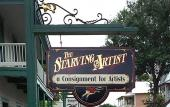 The Starving Artist is on Cuna Street in the old city.