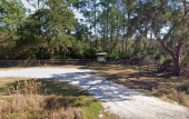 Entrance and Parking at Stokes Landing Conservation Area in St. Augustine, Florida