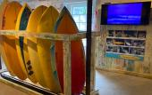 Inside the Surf Culture and History Museum in St. Augustine, FL