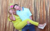 A couple poses at a Swipesnap event in St. Augustine, FL.
