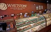 Glass cases at Whetstone Chocolates