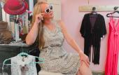 A local model poses at Wildflower Sisters Boutique in St. Augustine, FL.