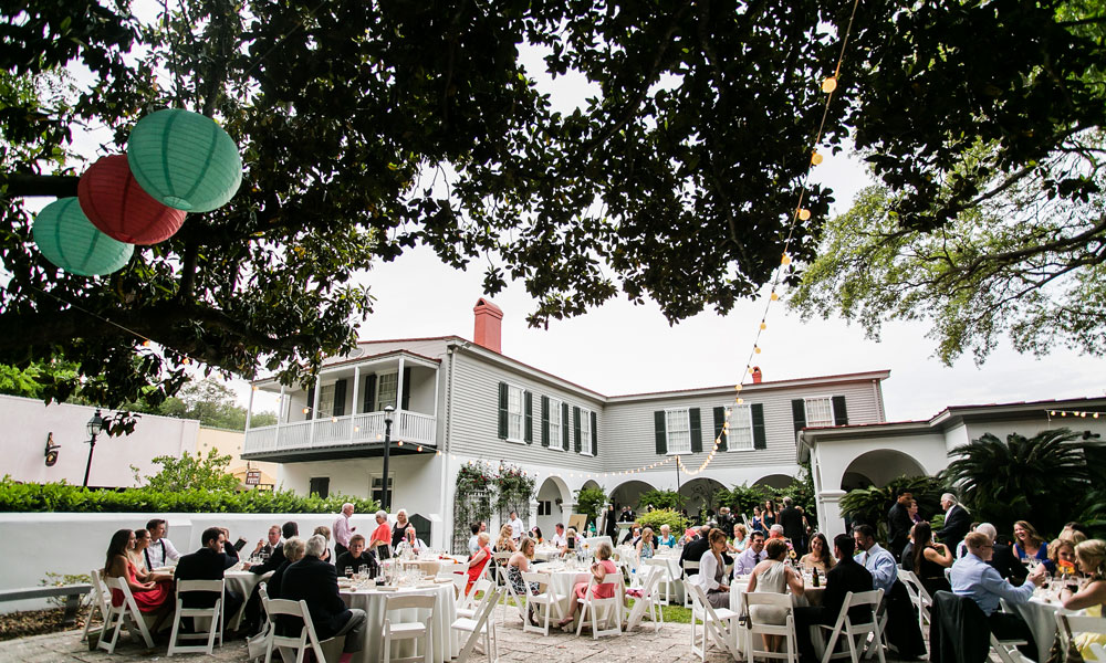 The Courtyard Garden Of Historic Pena Peck House Is A Beautiful Venue For Weddings